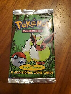 Pokémon 1st Edition Jungle Booster Pack Factory Sealed 1999 Flareon Art