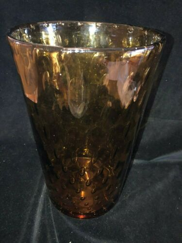 LARGE Whitefriars AMBER Graduated Controlled Bubbles Shape 8473