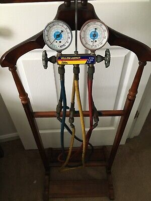 Yellow Jacket 49967 Manifold 3-18 With Gauges With Hoses