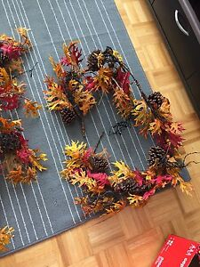 Wedding decor - faux fall foliage