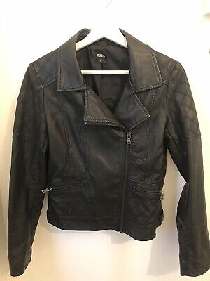 Oasis Soft 100% Leather Black Jacket Ladies Size Small