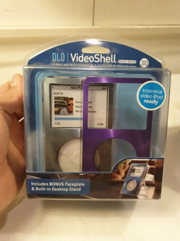 DLO VideoShell Ipod including faceplate & built-in desktop stand
