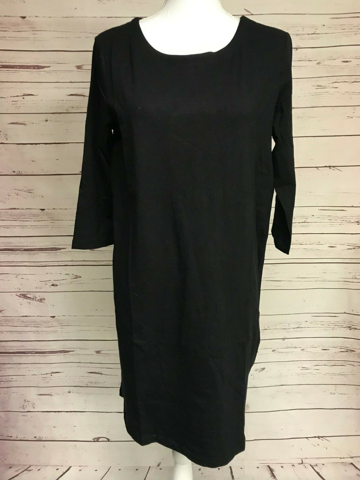 Zenana Outfitters Black V-Neck Dress Tunic Boutique Top S M