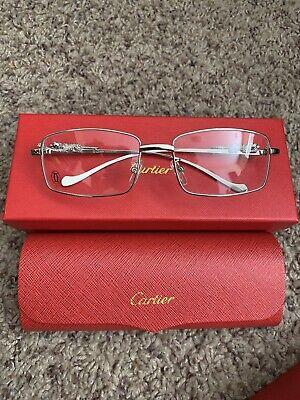 Cartier Glasses Rimless Silver 53mm Sunglasses Vintage Frame Buffalo