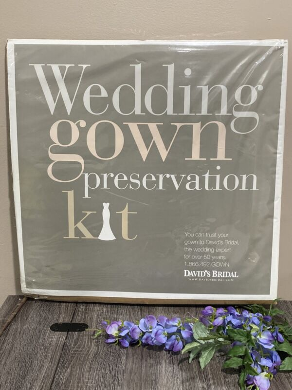 Wedding Gown Preservation Kit New in Box Davids Bridal Dress Storage ~ $189