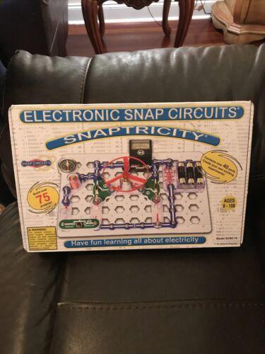 Snap Circuits Snaptricity,Electronics Exploration Kit Stem Building,New-open Box