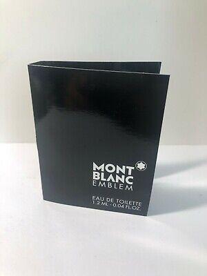 Mont Blanc Emblem for Men Eau de Toilette Vial Sample Spray 0.04oz 1.2ml