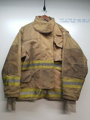 Authentic Veridian Turnout Bunker Gear Coat Firefighter