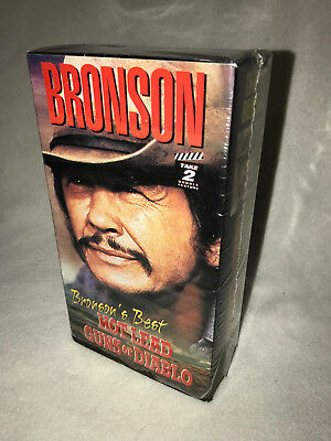 BRONSONS BEST, HOT LEAD, GUNDS OF DIABLO, 2 TAPE BOX SET, CHARLES BRONSON,