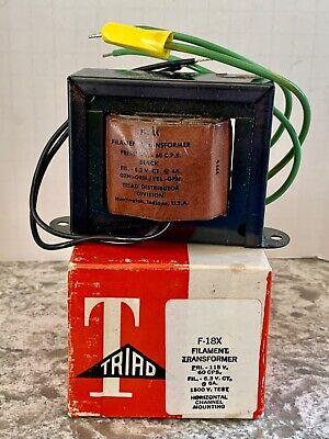 Triad F-18x Filament Transformer - New Old Stock In Original Box