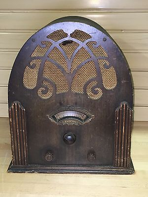 Vintage Radeon Tube RadioParts & Repair Wood Cathedral Tombstone