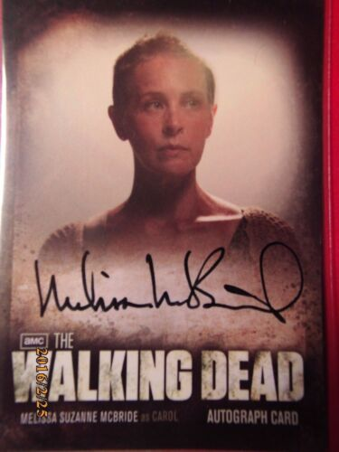 Melissa McBride as Carol THE WALKING DEAD Season 2 Autograph Card Auto A-6