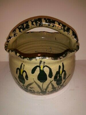 Iris Floral Pigeon Switch Pottery Basket Flower Pot
