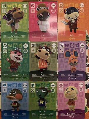 Lote de 20 Tarjetas Amiibos Nuevas Animal Crossing Serie 1 + Album...