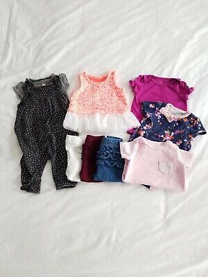 Baby Girl Clothes Lot 0-3 Month Carter