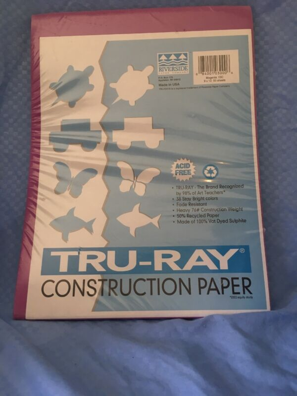 BRAND NEW Pacon Tru-Ray Sulphite Construction Paper, FACTORY SEALED