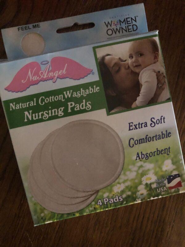 Nu Angel Natural Cotton Washable Nursing Pads