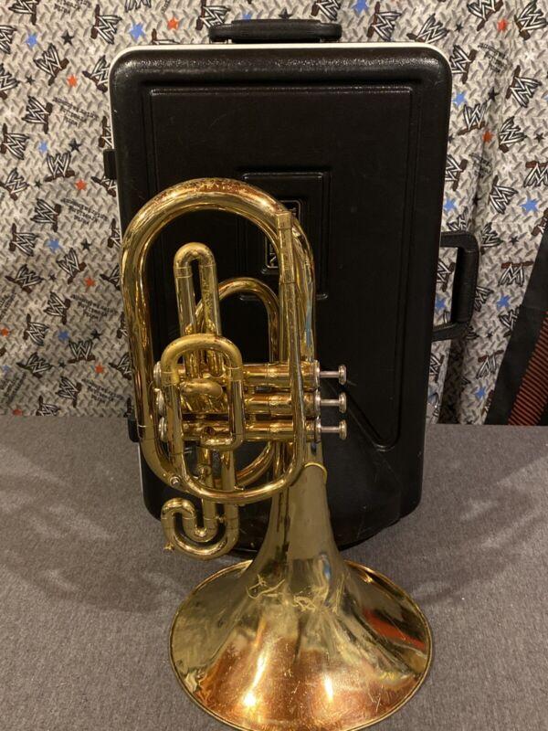 "Jupiter JMP-450 Mellophone W/ Case ""READ"""
