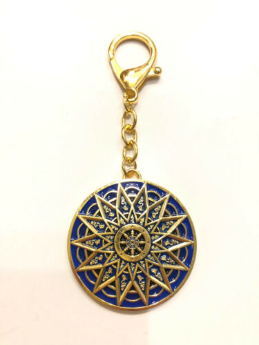 2021 Feng Shui 28 Hums Protection Wheel Amulet Keychain