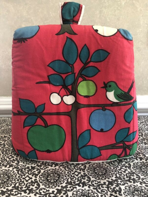 Vintage Toaster Cover Bright Floral/Birds Padded