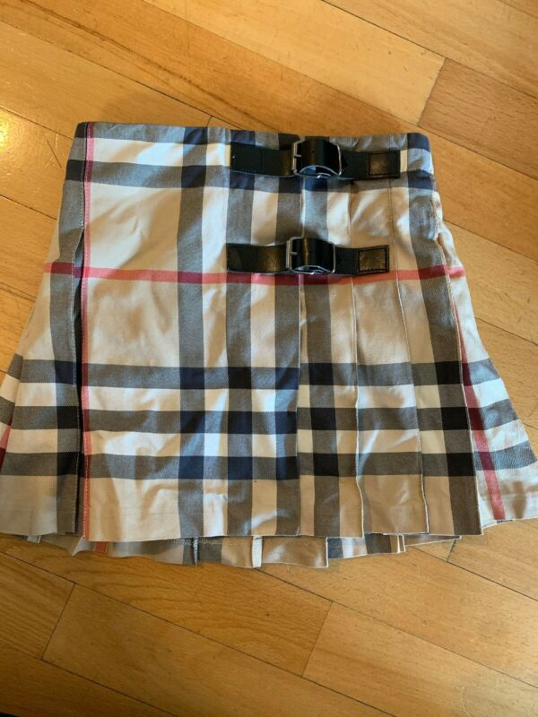 Size 4  Burberry Pleated Skirt
