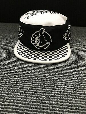 Vans Mens Black BMX Off The Wall Painters Hat Logo Cap One Size Snapback Cap New