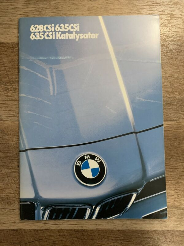 Bmw E24 Booklet Brochure