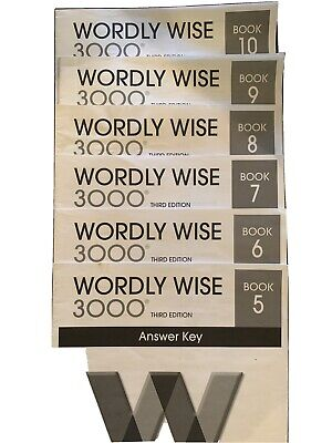 Wordly Wise 3000 Book 5, 6, 7, 8, 9, and 10 Answer Key 3rd editions