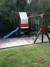 Peppertown log playground skyfort cubby slide Hope Island Gold Coast North Preview