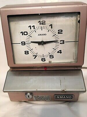 Vintage Amano Time Recorder Punch Time Clock Industrial Workplace Model 5507