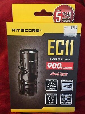 NITECORE EC11 900 Lumens (white/red light) XM-L2  LED Flashlight