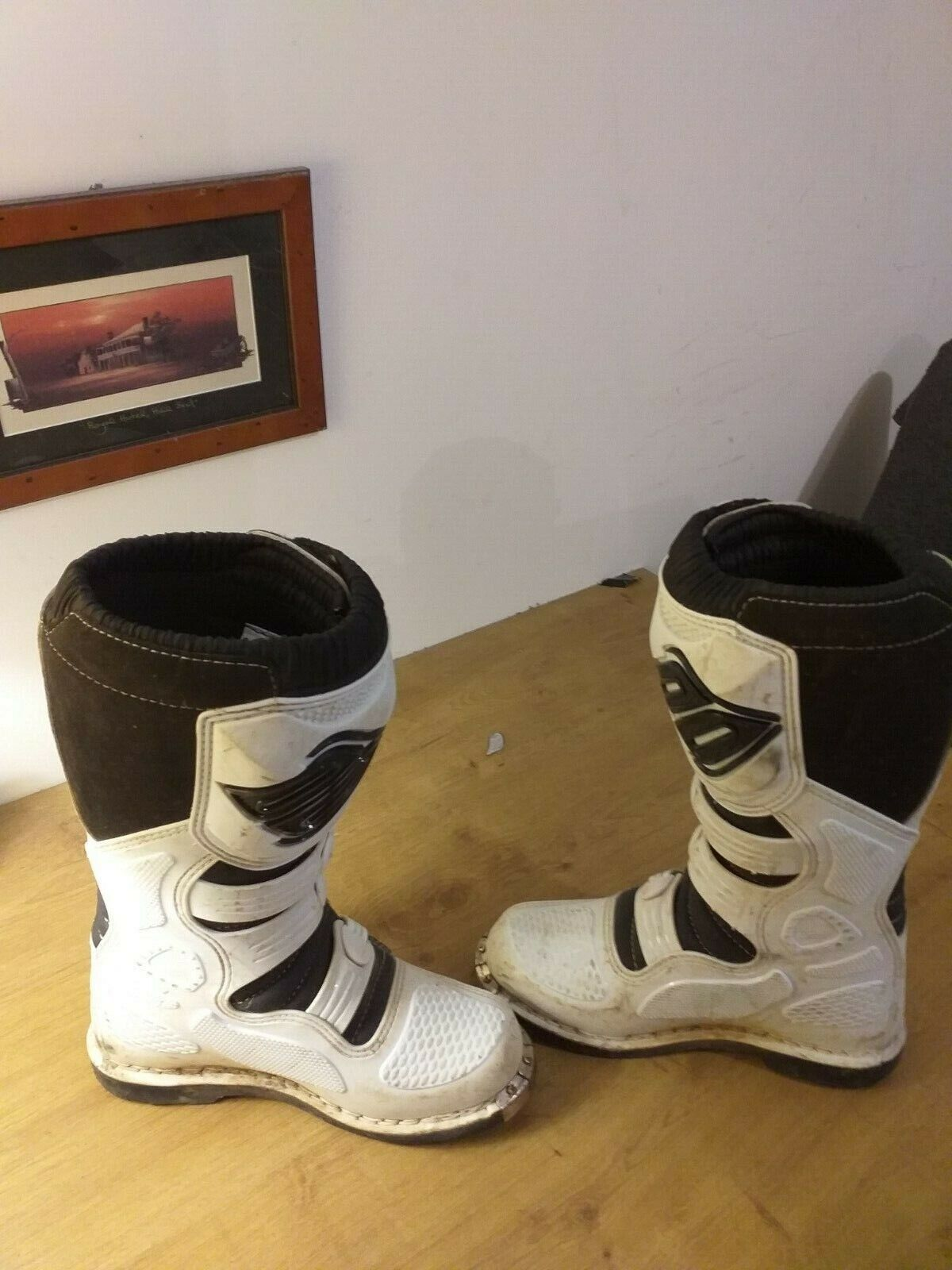 Bottes motocross shotx12 t40 blanches