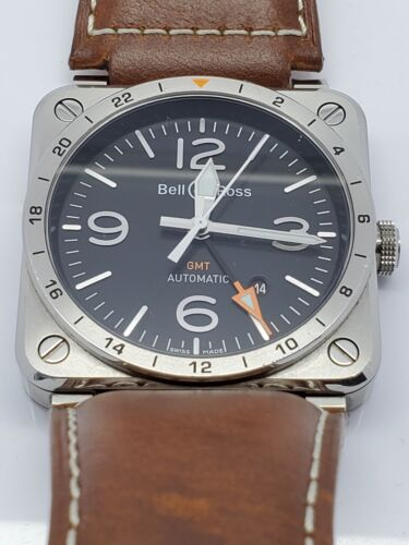 Bell and Ross Aviation Instruments GMT Watch BR0393-GMT-ST/SCA - watch picture 1