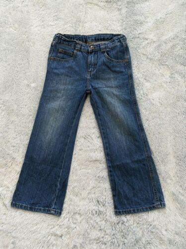 Wrangler SIZE 5T Toddler Boys Blue Denim Bootcut Jeans Adjustable Waist EUC