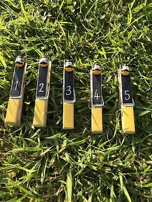 Wooden Bumblebee Number Pegs EYFS Classroom Resource