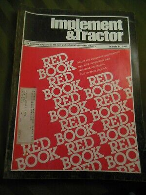 1985 Farm Tractor And Implement Red Book