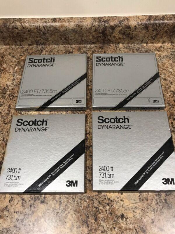 Lot Of 4 Scotch DynaRange 2400 Ft, 7