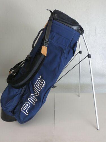 VTG Ping Hoofer 4-Way Divider Vintage Golf Stand Bag Blue Dual Strap 061521