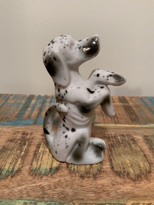 Vintage Porcelain Figurine Dalmatian Dog Made in Japan Excellent
