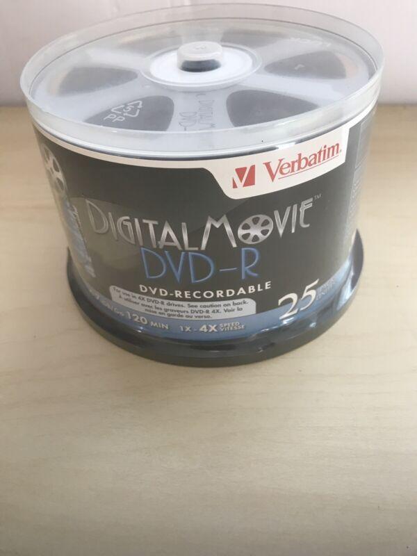 Verbatim Corporation 94866 25Pk Dvd-R 4X 4.7Gb Digital Movie Spindle (ff)
