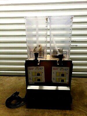 Schroeder Commercial Juice Beverage Cold Refrigerated 2 Drink Dispenser Machine