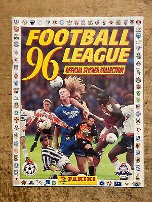 ALBUM E SET COMPLETO FIGURINE PANINI FOOTBALL LEAGUE 96