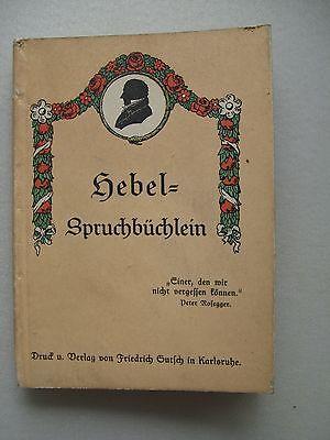 Hebel-Spruchbüchlein 1926 Hebel