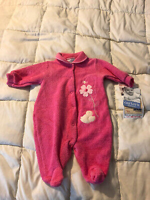 NEW TODDLER BABY CARTER'S PINK FLORAL OUTFIT SIZE 0-3M 0 -3 MONTHS ONESY