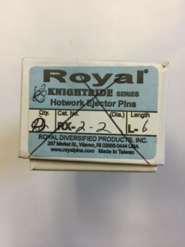 Royal RX-2-2-L6 RX KNIGHTRIDE SERIES H-13 Hotwork Ejector Pins (BOX OF 4)