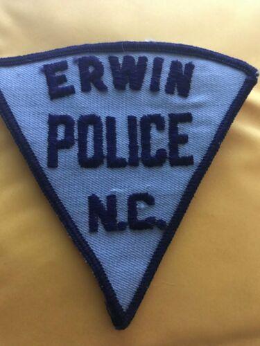 Vintage ERWIN NORTH CAROLINA NC Police Patch Triangle