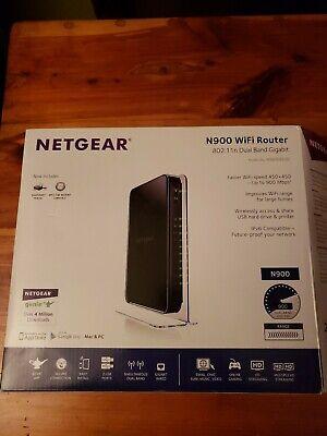 NETGEAR WNDR4500 N900 Wireless-N Dual Band Gigabit Router WIFI Broadband Used Netgear N Broadband Router