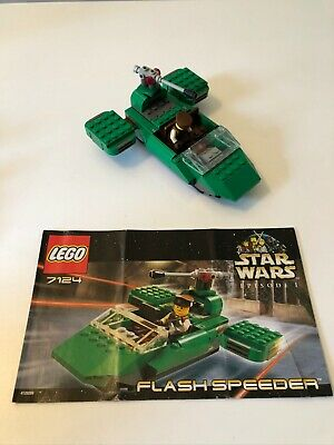 Lego Star Wars Flash Speeder set 7124 includes minifigures & manual