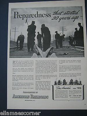 Vintage 1940 Association of American Railroads Original Print Ad