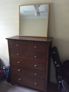 Dark Brown Tallboy- Chest of drawers SOLD awaiting collection Newstead Brisbane North East Preview